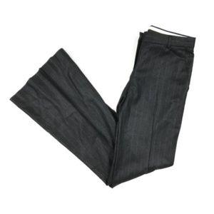 Theory Gray Wool Blend Pinstripe Stretch Pants